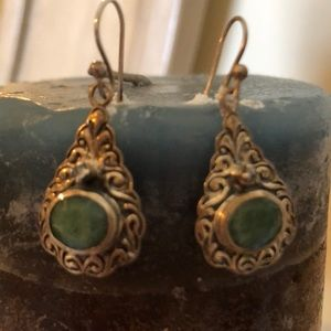 COPY - ⭐️⭐️Vintage gorgeous SS Jade earrings